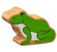 Natural Wood Colourful Frog