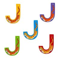 Wooden Upper Case Letter J
