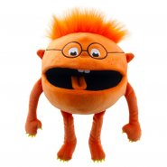 Orange Baby Monster Hand Puppet
