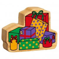 Natural Wood Stack of Presents