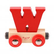 Letter W - Wooden Name Train
