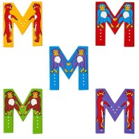 Wooden Upper Case Letter M