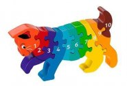 Cat 1-10 wooden jigsaw