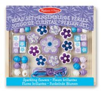 Sparkling Flowers - Wooden Bead Set
