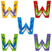 Wooden Upper Case Letter W