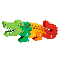 Crocodile 1-5 wooden jigsaw