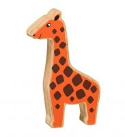 Natural Wood Colourful Giraffe