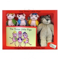 Three Little Pigs - Finger Puppets Story Set