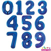 Blue Giant Number Balloons