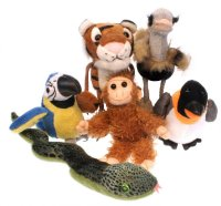 Zoo Animals - Finger Puppets - Set of 6