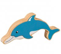 Natural Wood Colourful Dolphin