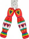 Wooden Skipping Rope - Red Heart