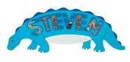 Blue Dinosaur Name Plaque