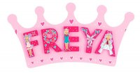 Pink Crown Name Plaque (small)