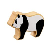 Natural Wood Colourful Panda