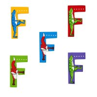 Wooden Upper Case Letter F