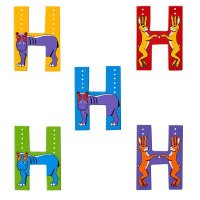 Wooden Upper Case Letter H