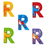 Wooden Upper Case Letter R