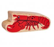 Natural Wood Colourful Lobster