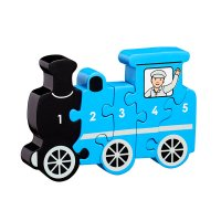 Train 1-5 wooden jigsaw puzzle