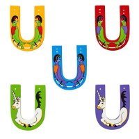 Wooden Upper Case Letter U