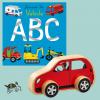 Vehicles ABC book with wooden car