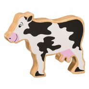 Natural Wood Painted Cow