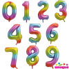 Rainbow Giant Number Balloons