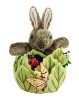 Rabbit in Lettuce - Finger Puppet Set