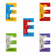 Wooden Upper Case Letter E