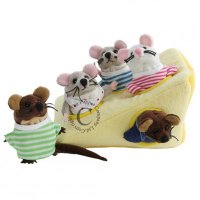 Mouse Family in Cheese - Finger Puppet Set