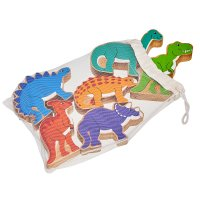 Wooden Dinosaur Bag