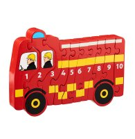 Fire Engine 1-10 wooden jigsaw