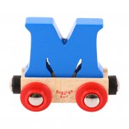 Letter M - Wooden Name Train