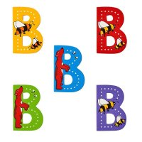Wooden Upper Case Letter B