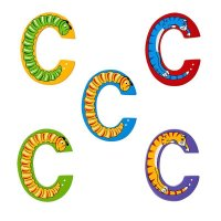Wooden Upper Case Letter C