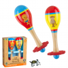 Lion and Monkey Wooden Maracas