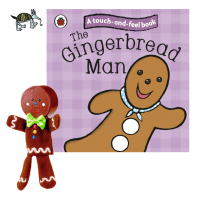 The Gingerbread Man Book and Finger Puppet