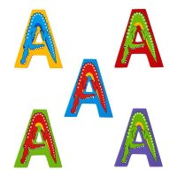 Animal Wooden Capital Childrens Name Letters
