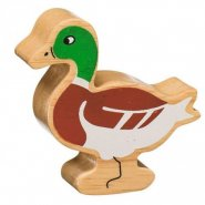 Natural Wood Painted Duck