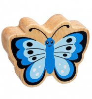 Natural Wood Colourful Butterfly