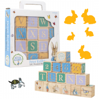 Peter Rabbit Wooden Alphabet Blocks