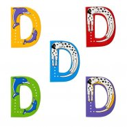 Wooden Upper Case Letter D