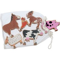 Wooden Animal Bag - Farm