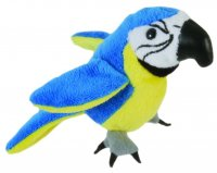 Blue and Gold Macaw - Finger Puppet
