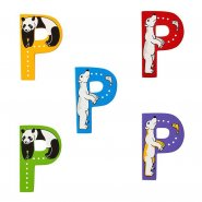 Wooden Upper Case Letter P