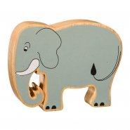 Natural Wood Painted Elephant