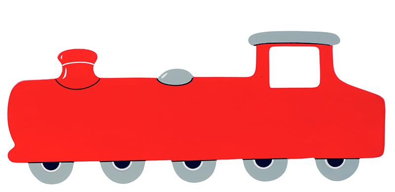 Red Train Children S Name Plaque Long Long Red Train