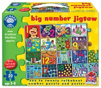 Big Number Jigsaw - 20 Pieces
